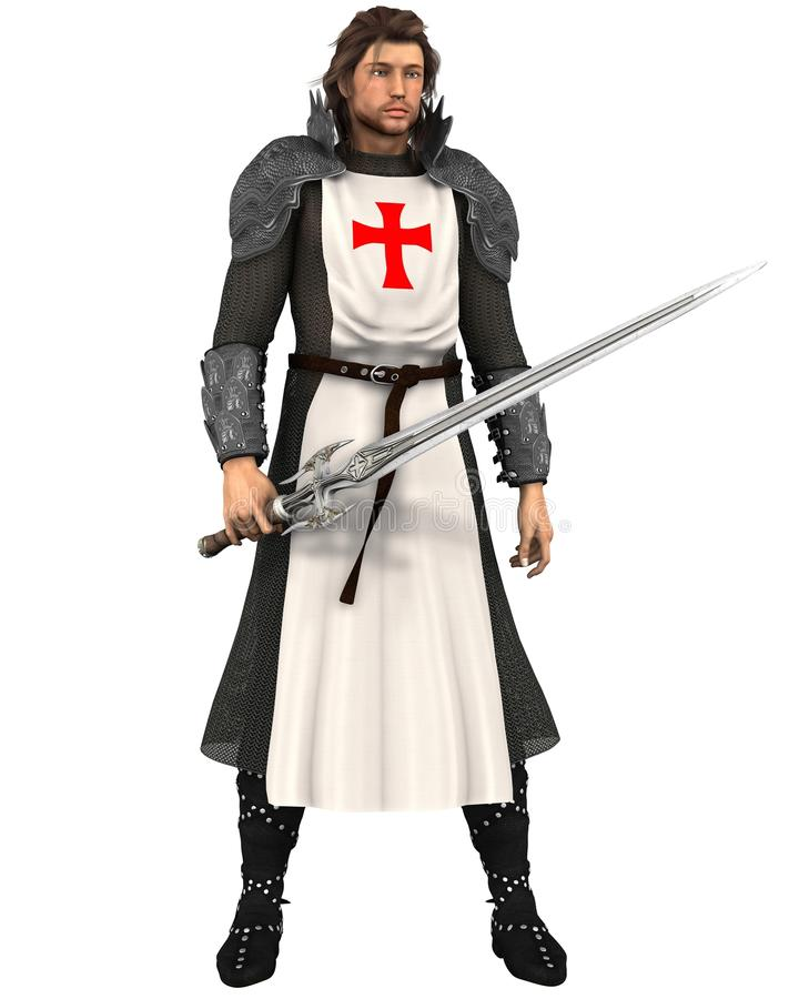 英国乔治受护神 向量例证
