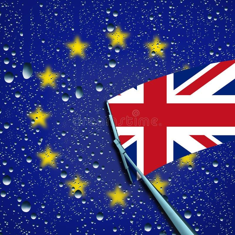 英国事假或留下欧盟标志 向量例证