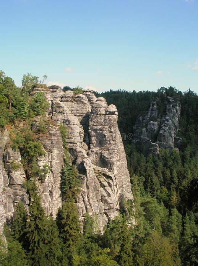 英国人的岩石铺沙撒克逊人的瑞士 免版税库存图片