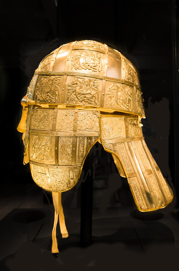 英国人的撒克逊人的盔甲 库存照片