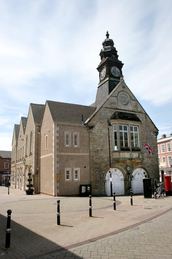 英国伍斯特郡伊韦沙姆的镇中心 库存图片