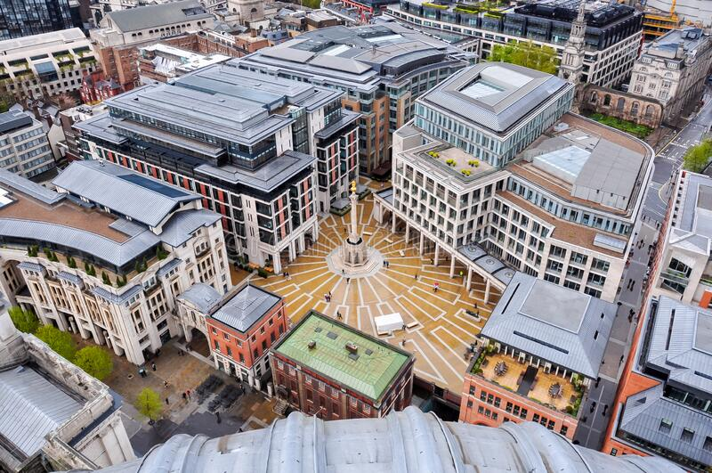 英国伦敦的帕特诺斯特广场 图库摄影