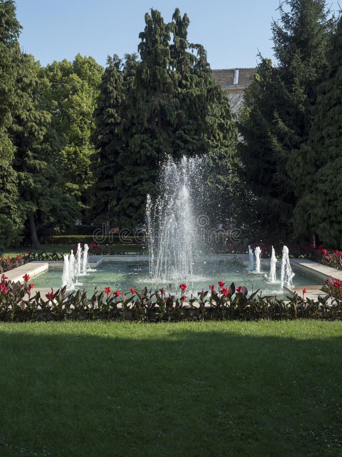英国公园,克拉约瓦,罗马尼亚 免版税库存照片