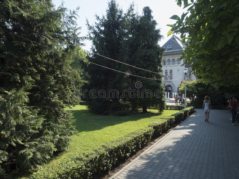 英国公园,克拉约瓦,罗马尼亚 库存照片