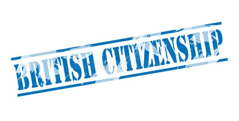 英国公民身份蓝色邮票 向量例证
