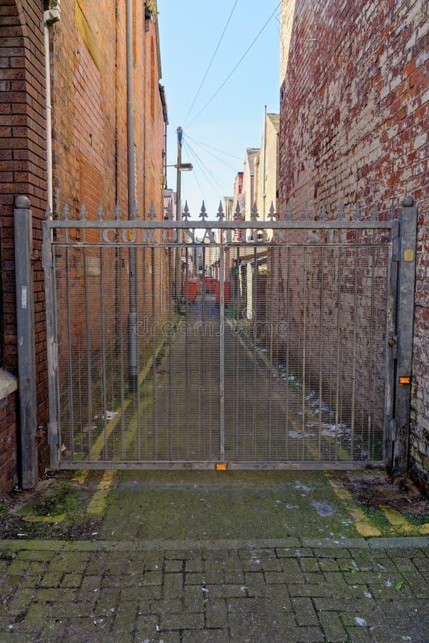 英国兰开夏郡布莱克浦街景 免版税库存图片