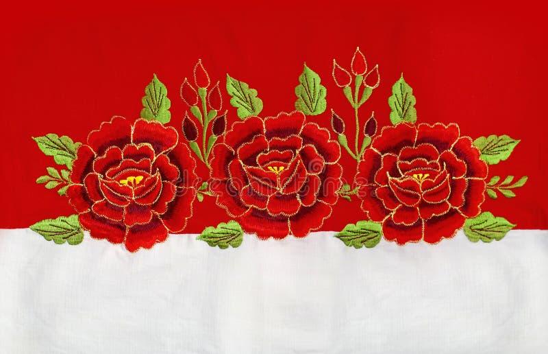 英国兰开斯特家族族徽刺绣 免版税库存照片