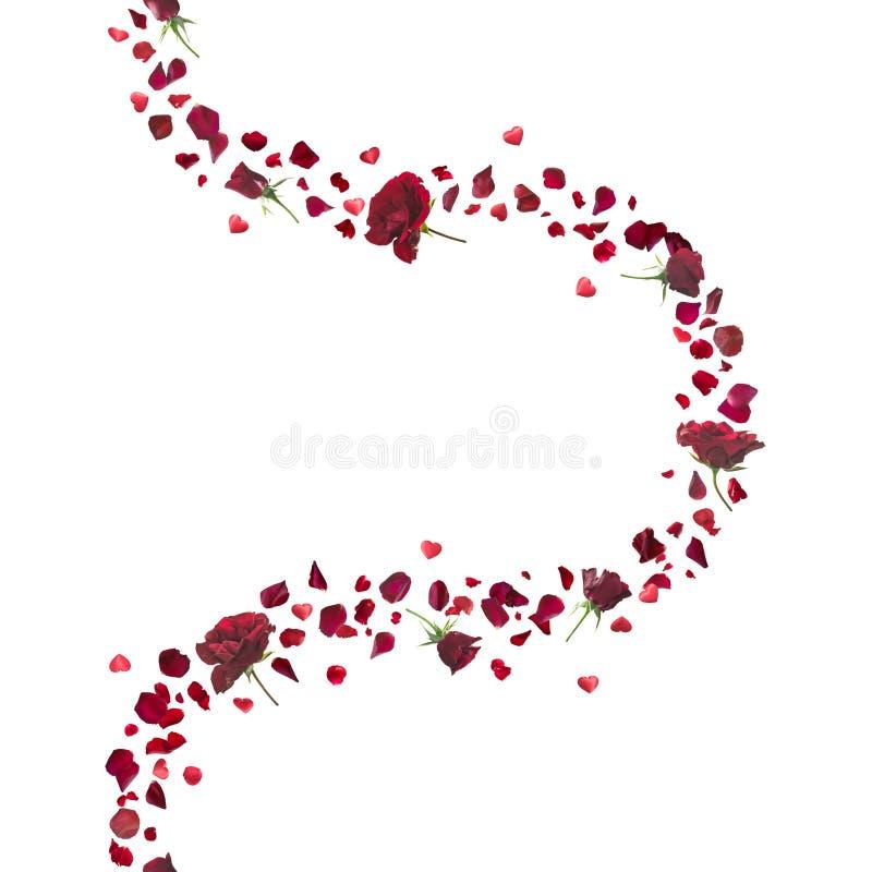 英国兰开斯特家族族徽和心脏曲线 向量例证