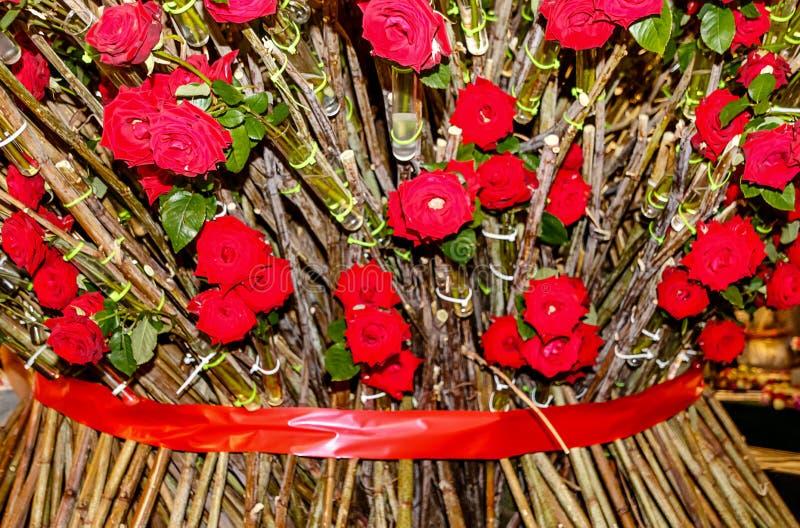 英国兰开斯特家族族徽巨型花束  库存照片