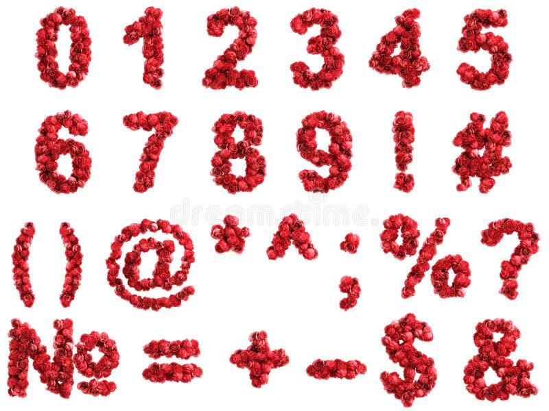 英国兰开斯特家族族徽数字,隔绝在白色背景 库存例证