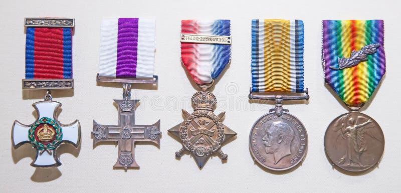 英国军事奖 免版税库存照片