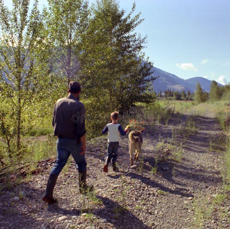 英国加拿大哥伦比亚父亲okanagan儿子 免版税图库摄影
