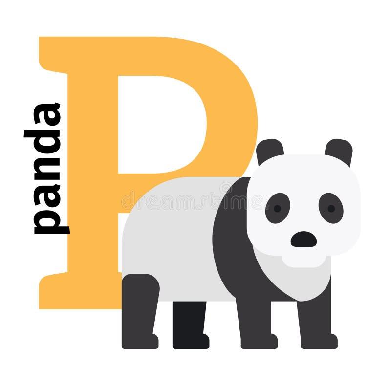 英国动物动物园字母表信件P 库存例证