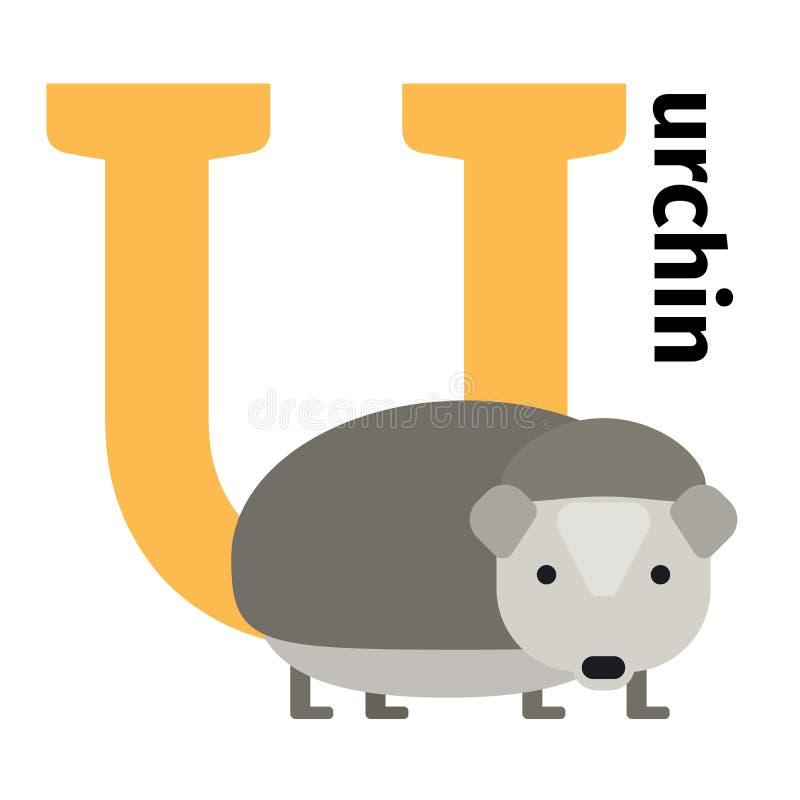 英国动物动物园字母表信件U 向量例证
