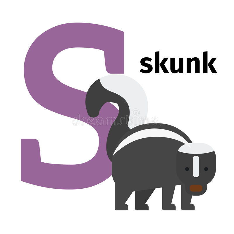 英国动物动物园字母表字母S 库存例证