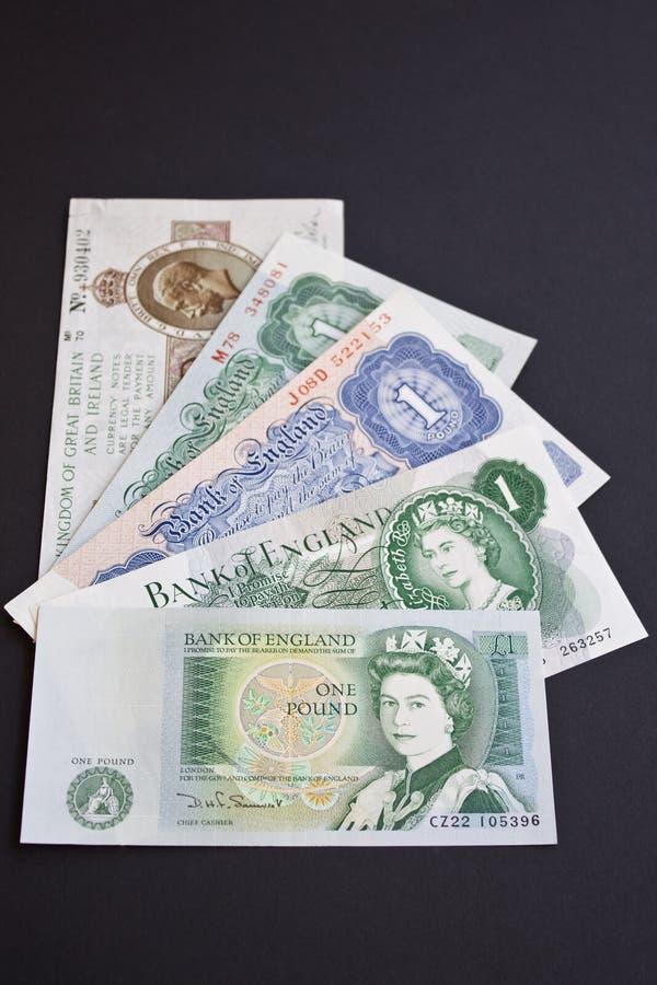 英国历史记录一镑 免版税库存照片