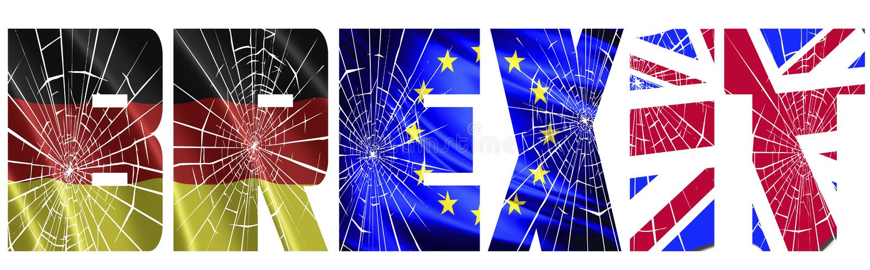 英国和德国战争的在Brexit 免版税库存图片