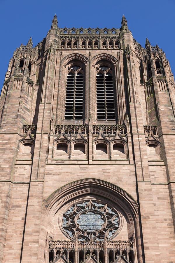 英国国教大教堂利物浦 免版税库存照片