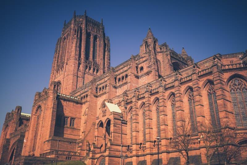 英国国教大教堂利物浦 免版税库存图片