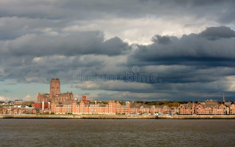 英国国教大教堂利物浦 免版税图库摄影