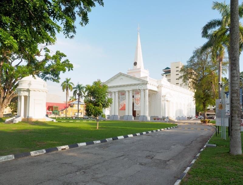 英国国教的教堂在槟榔岛,马来西亚 免版税库存照片