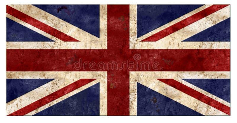 英国国旗难看的东西锡 向量例证