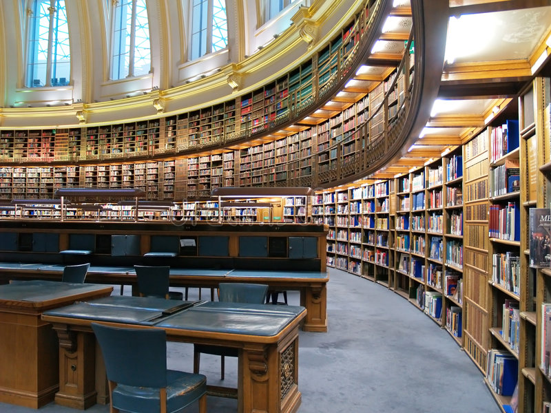 英国图书馆博物馆 免版税库存图片