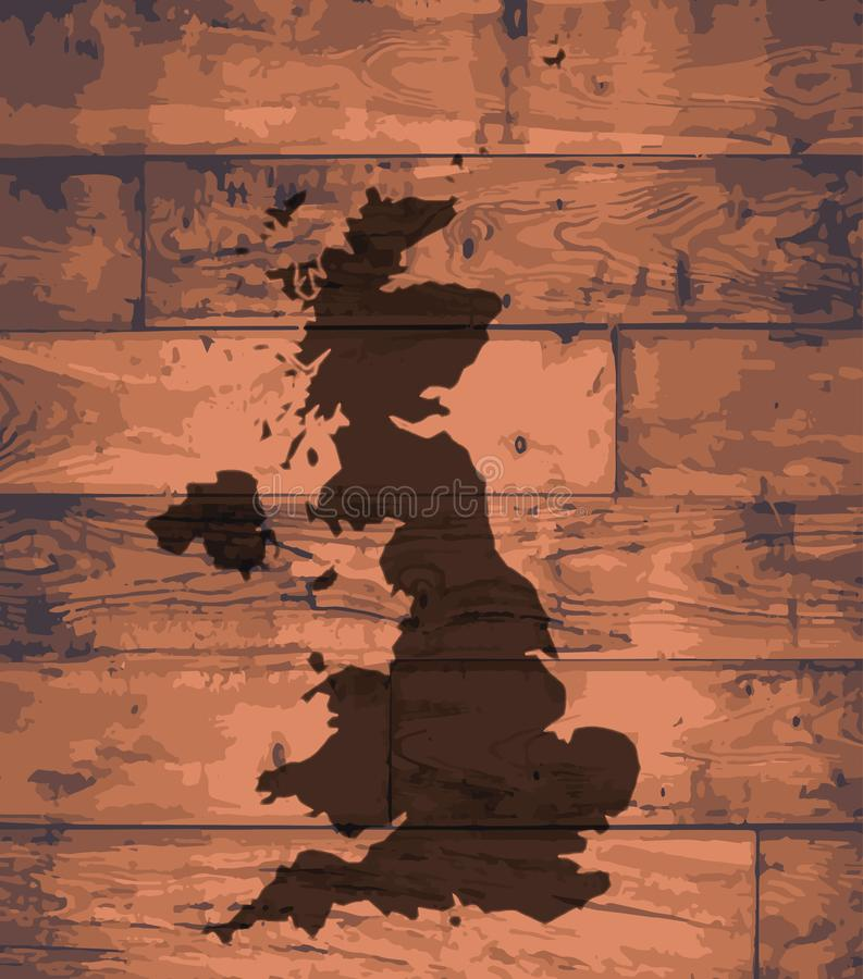 英国地图品牌 向量例证