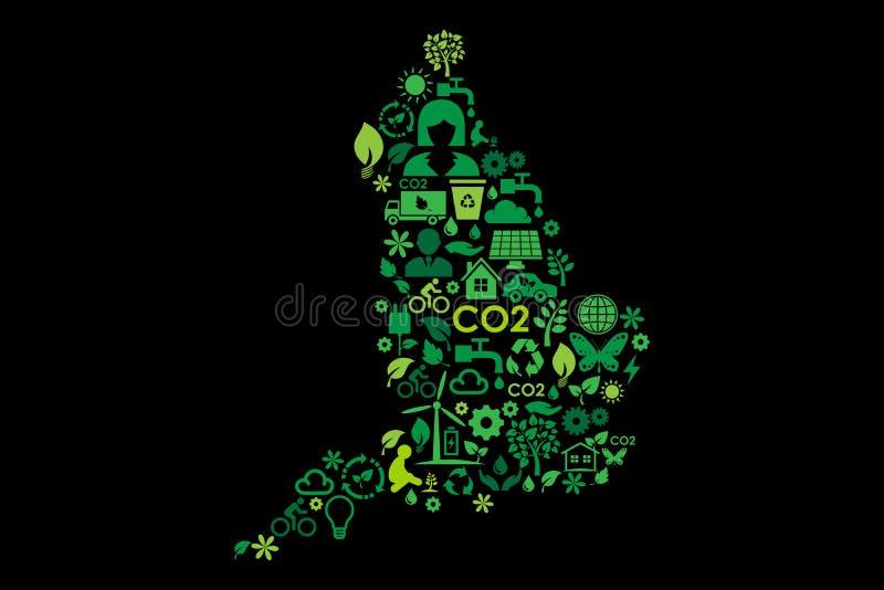 英国地图环境保护绿色概念象 皇族释放例证