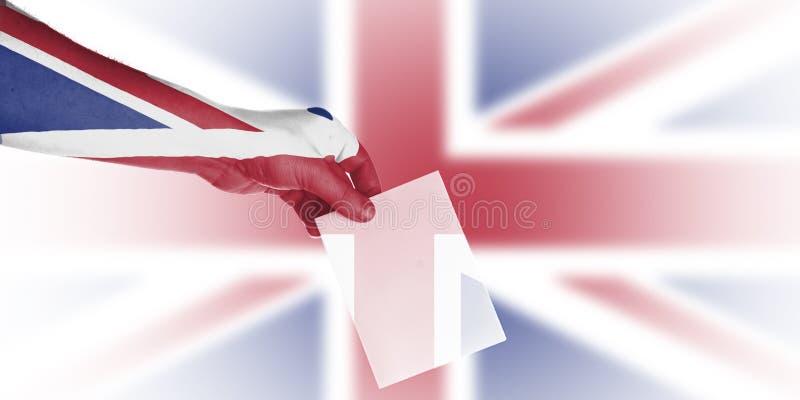 英国地方选举墙纸 免版税库存图片