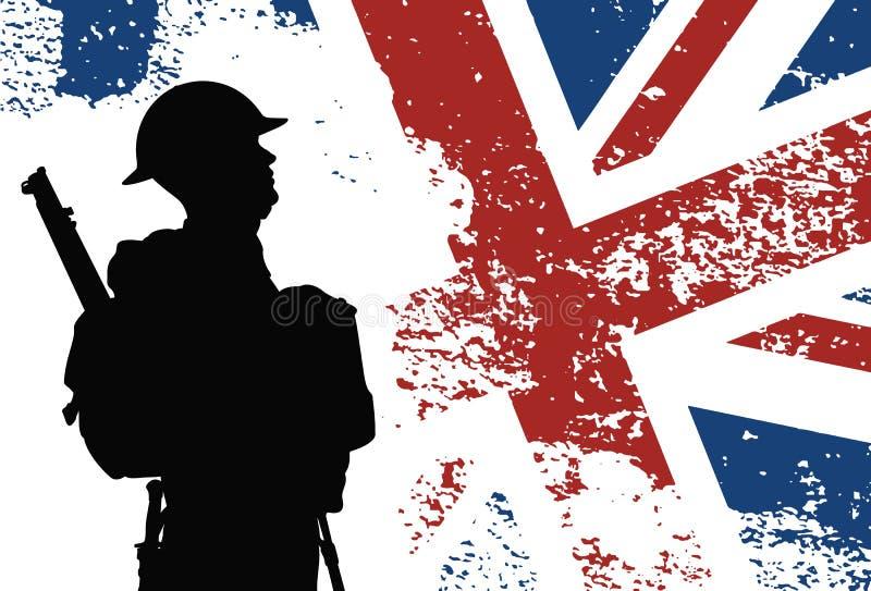 英国士兵WWII 向量例证
