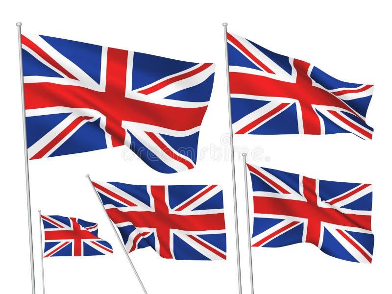 英国大英国传染媒介旗子 向量例证