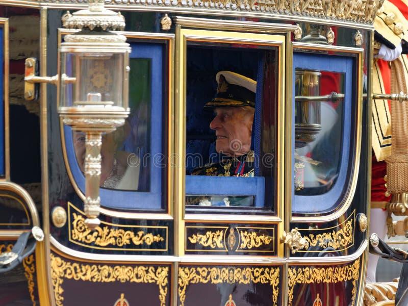 英国女王伊丽莎白二世和菲利普王子 免版税库存图片
