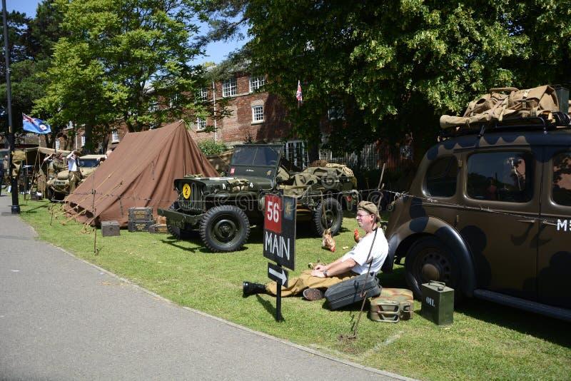 英国威尔特郡特罗布里奇 29/06/2019 威尔特郡武装部队和退伍军人庆祝活动 免版税库存图片