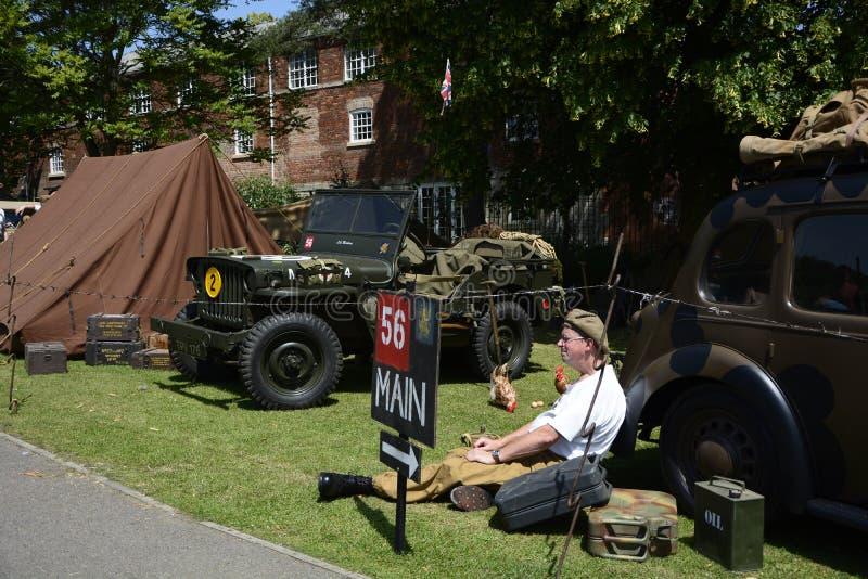 英国威尔特郡特罗布里奇 29/06/2019 威尔特郡武装部队和退伍军人庆祝活动 库存图片