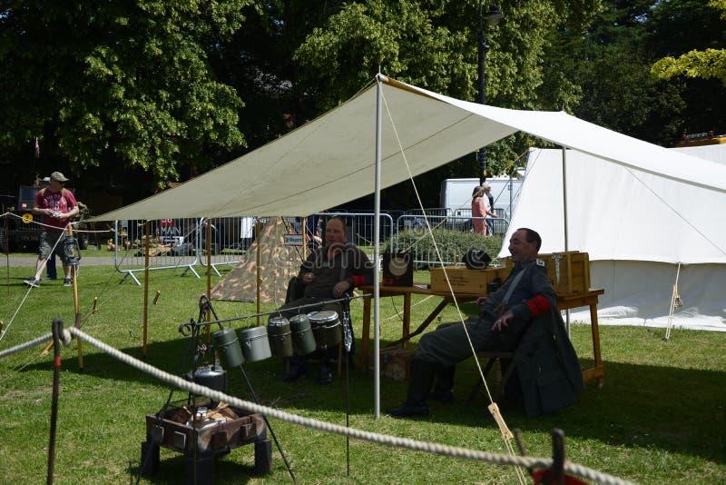 英国威尔特郡特罗布里奇 29/06/2019 威尔特郡武装部队和退伍军人庆祝活动 图库摄影