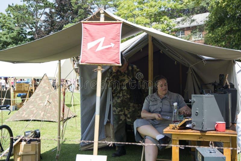 英国威尔特郡特罗布里奇 29/06/2019 威尔特郡武装部队和退伍军人庆祝活动 免版税图库摄影
