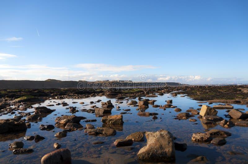 英国岩石岸 免版税库存图片