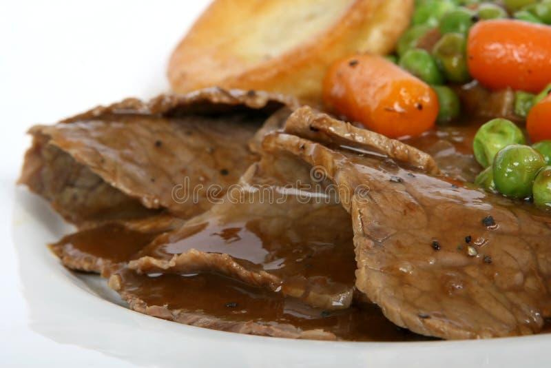 英国布丁烘烤夏天传统veg约克夏 免版税库存图片