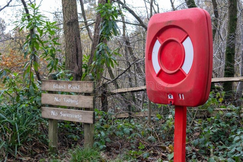 英国布尚公园考利晚秋 免版税库存图片