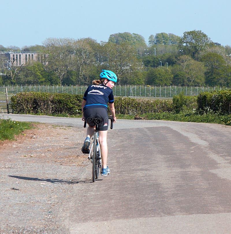 英国布里斯托尔,单车运动员23-04-2020 COVID19 库存图片