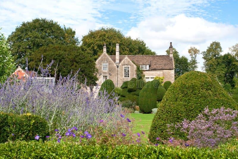英国庭院房子 图库摄影