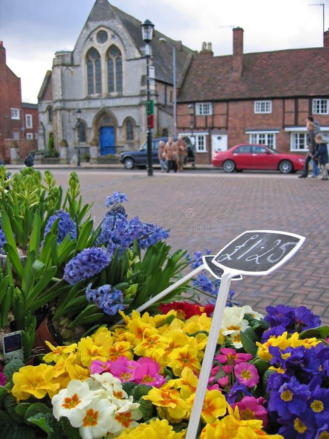 英国开花市场stratford街道 库存照片