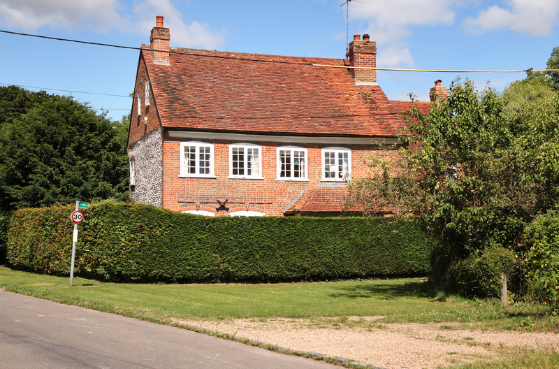 英国房子传统村庄 库存照片