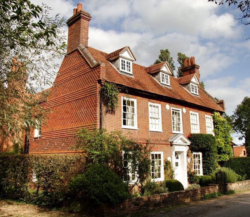 英国房子村庄 免版税图库摄影