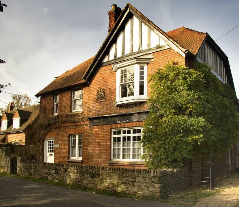 英国房子村庄 免版税库存图片