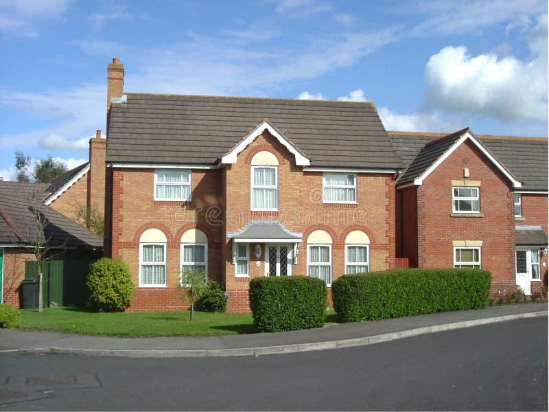 英国房子铺磁砖了 免版税库存照片