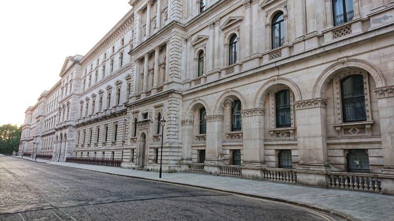 英国政府作战室保护了街道 图库摄影