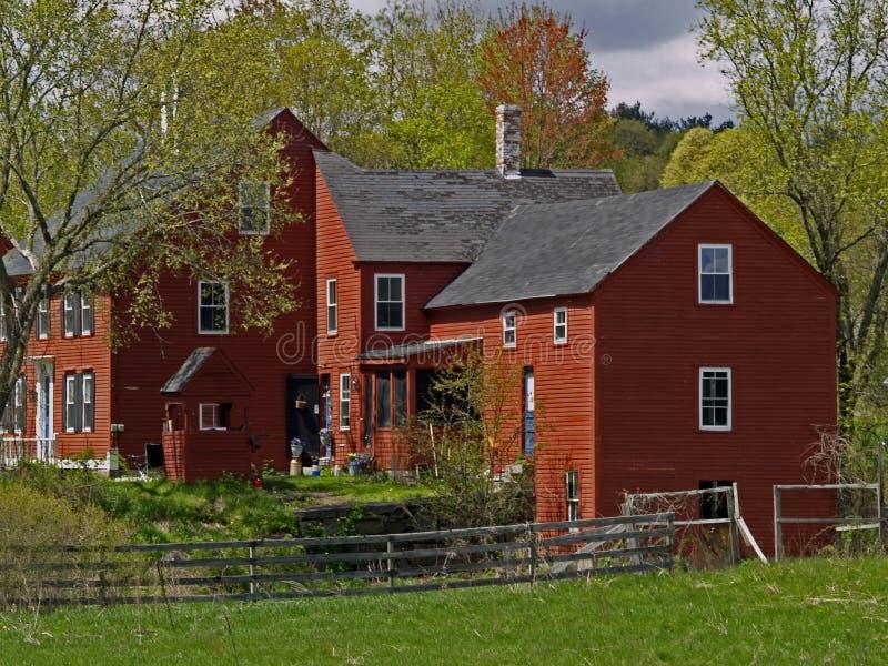 英国新农厂的房子 免版税图库摄影