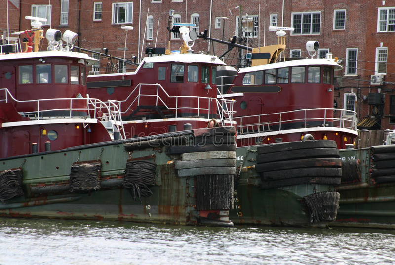 英国新的拖轮 免版税库存照片